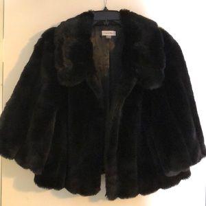Calvin Klein faux fur formal jacket.